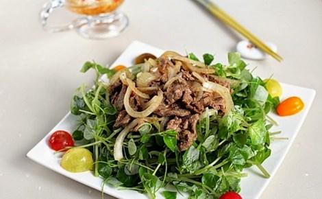 Bật mí trộn gỏi rau càng cua thịt bò bổ dưỡng