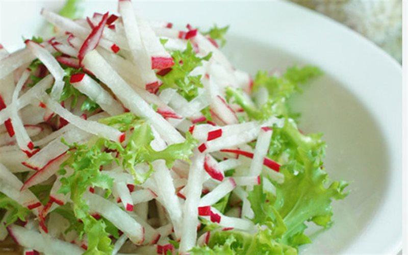 salad giam can cu cai do