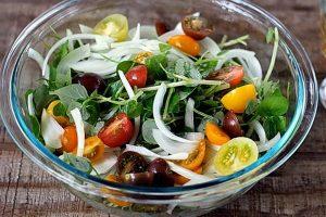 salad giam can rau cang cua