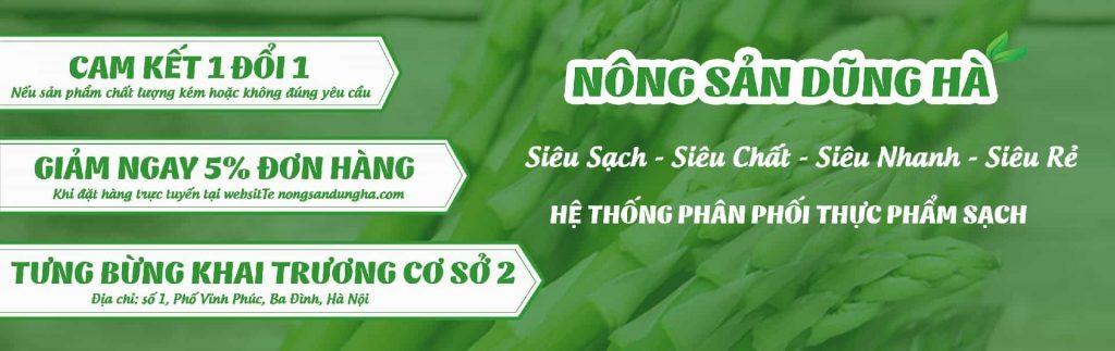banner nong san sach dung ha