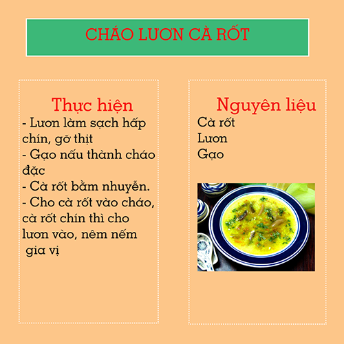 chao luon ca rot