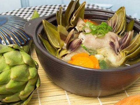 Cách nấu canh bông Atiso thơm ngon nhiều chất dinh dưỡng cho cả nhà.