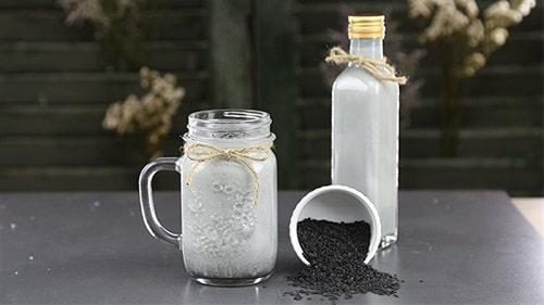 Sữa mè đen thơm ngon sánh mịn, giàu dinh dưỡng